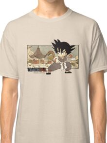 Son Goku on Mt. Paozu Classic T-Shirt