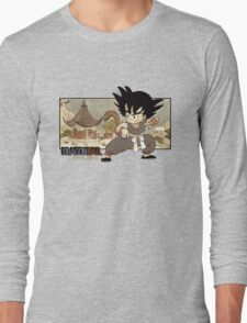 Son Goku on Mt. Paozu Long Sleeve T-Shirt