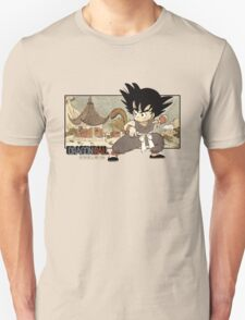 Son Goku on Mt. Paozu Unisex T-Shirt