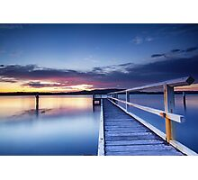 Woy Woy pier sunrise Photographic Print