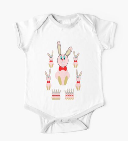 Easter Bunnies T-Shirt One Piece - Short Sleeve