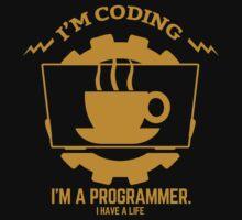 programmer : I'm coding. I am a programmer - Gold Kids Clothes