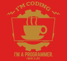 programmer : I'm coding. I am a programmer - Gold One Piece - Long Sleeve