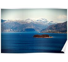 Fjords and Mountains. Poster