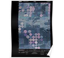 USGS Topo Map Washington State WA Schrag 20110401 TM Inverted Poster