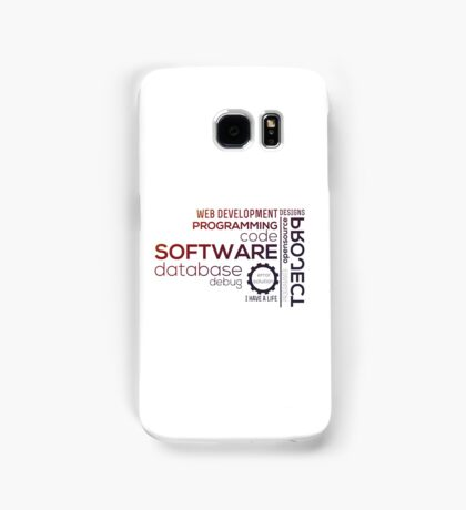 Programmer : Typography Programming -  color Samsung Galaxy Case/Skin