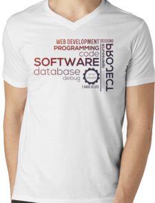 Programmer : Typography Programming -  color Mens V-Neck T-Shirt