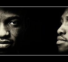 African American Male Black and White Portrait Photography. by Noel Moore Up The Banner Photography