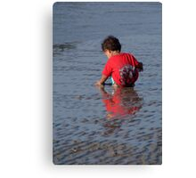 Baby in Red Goa T-Shirt Palolem Canvas Print