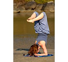 Yoga on Palolem Beach Photographic Print