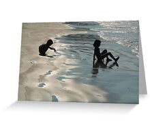Children by the Sea Palolem Greeting Card
