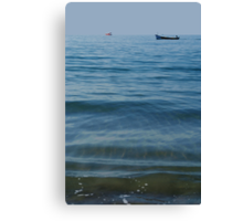 Boat out to Sea Palolem Canvas Print