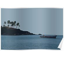 Boat in Palolem Bay Poster