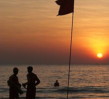 Life Guard Station at Sunset Palolem Beach by SerenaB