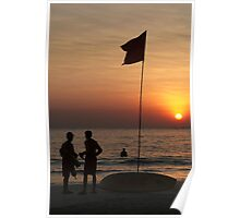 Life Guard Station at Sunset Palolem Beach Poster