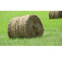 Hay bale on a sunny day Photographic Print