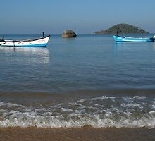 Boats Off Palolem Beach by SerenaB
