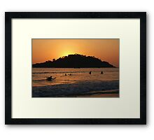 In the Sea at Sunset Palolem Framed Print