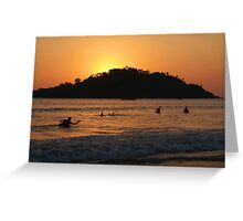 In the Sea at Sunset Palolem Greeting Card