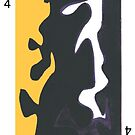 American Expressionism-4 of Clubs by Peter Simpson