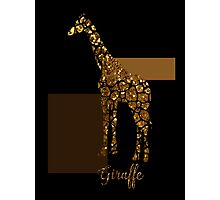 Modern Golden Giraffe, gold black brown Photographic Print