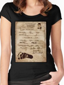 President Barack Hussein Obama's Certificate Of Birth - Birther Edition Women's Fitted Scoop T-Shirt