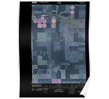 USGS Topo Map Washington State WA Schoonover 20110401 TM Inverted Poster