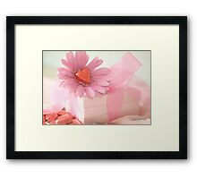 ...pink love............. Framed Print