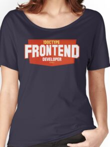 front end developer html5 Women's Relaxed Fit T-Shirt