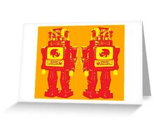 Robot Robot Greeting Card