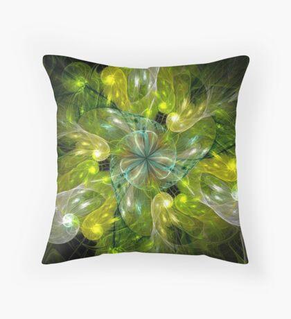 Lemon-lime Gush Throw Pillow