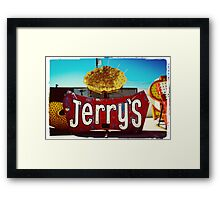 Neon Jerry's Framed Print