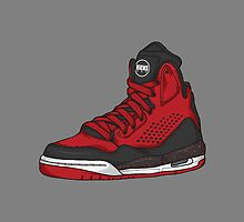 Shoes Flight Red (Kicks) by Pancho The Macho