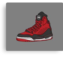 Shoes Flight Red (Kicks) Canvas Print