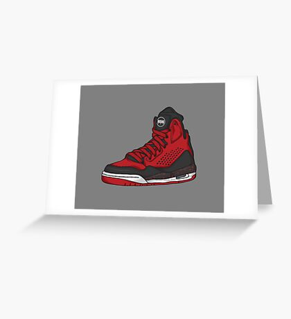 Shoes Flight Red (Kicks) Greeting Card