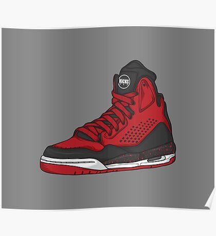 Shoes Flight Red (Kicks) Poster