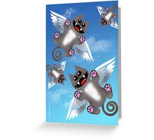 ANGEL FELINE Greeting Card