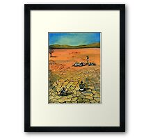 Famine Stalks The Earth Elsewhere Framed Print