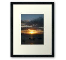 South American Sunset Framed Print