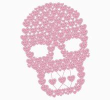 Sexy pink lace skull illustration designed by Kanjiz by derickyeoh