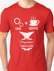 programmer t-shirt: code,coffee. T-Shirt