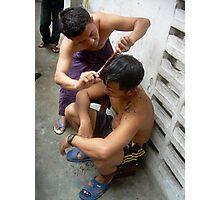 The haircut - Ma Liani Photographic Print