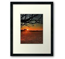 Saturday Sunflare Framed Print