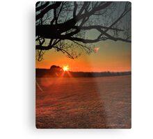 Saturday Sunflare Metal Print