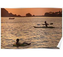 Kayak and Inflatable Ring at Sunset Palolem Poster