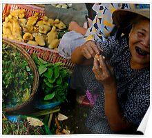 Market Scene Poster
