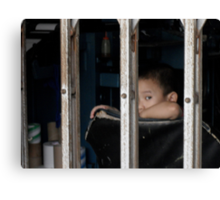 Boy in Cage - Peter Jackson Canvas Print