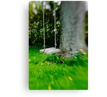 Swing on the tree Canvas Print