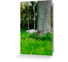 Swing on the tree Greeting Card