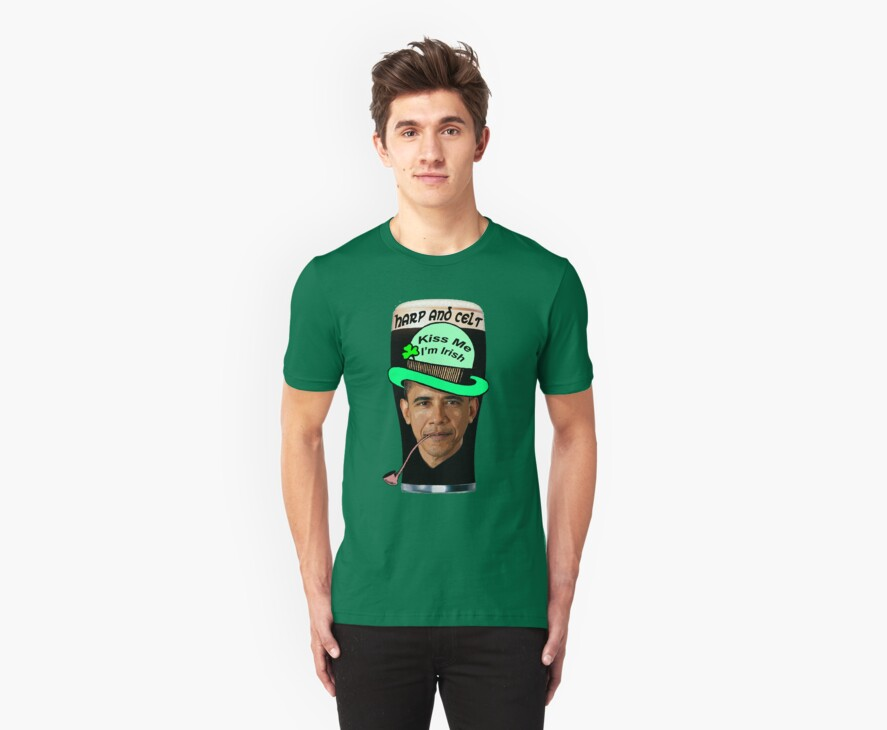 Obama Leprechaun - Kiss Me, I'm Irish by Kinnally